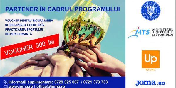 Joma Romania, partener al proiectului vouchere pentru sportivi